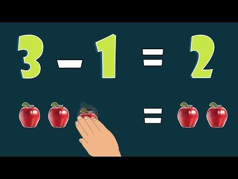 تعليم عملية الطرح للأطفال بطريقة بسيطة ~ تعلم الحساب