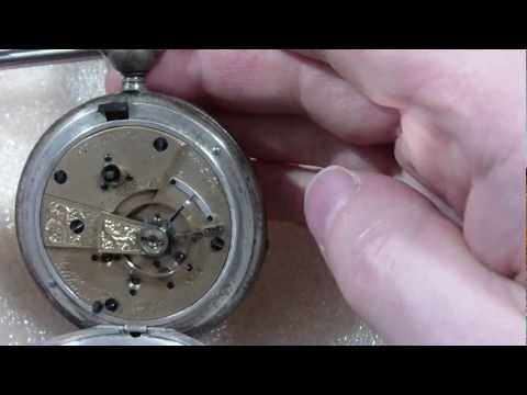 How I take apart a pocket watch, Waltham model 1857