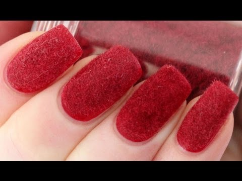 Velvet Nails with Flocking Powder Tutorial