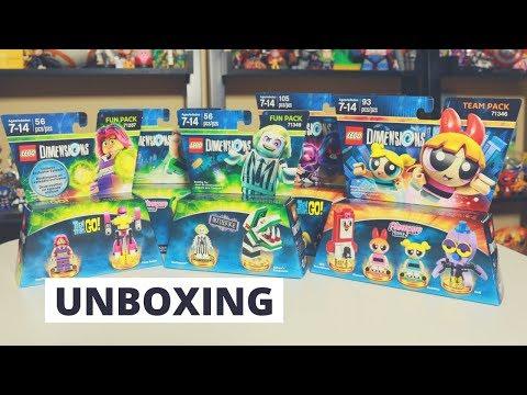 Lego Dimensions Wave 9 Unboxing Teen Titans Go + Beetlejuice + Powerpuff Girls