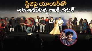 Hero Raj Tarun Making Fun With Anchor Geetha Bhagath | Lover Trailer Launch | Filmy looks