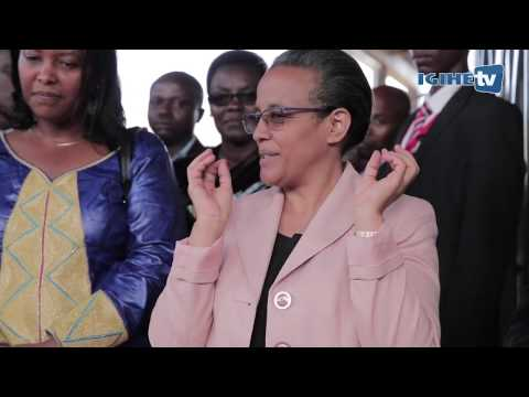 First Lady of Ethiopia Roman Tesfaye makes a visit to Women Centre in Kayonza Rwanda