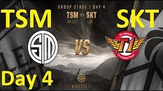 TSM vs SKT Game 5 Highlights MSI 2017 Group Stage Day 4