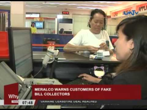 MERALCO warns against fake electricity bill collector