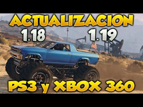 Actualizacion 1.18 Y 1.19 En GTA V Online de PS3 y Xbox 360
