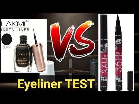 Lakme Insta Eyeliner Vs Yanqina36H Eyeliner || SonamHouse