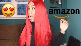 MOST Natural Looking RED Synthetic Wig ON AMAZON !