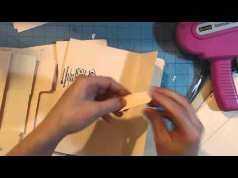 Ladies Diary file folder mini album tutorial