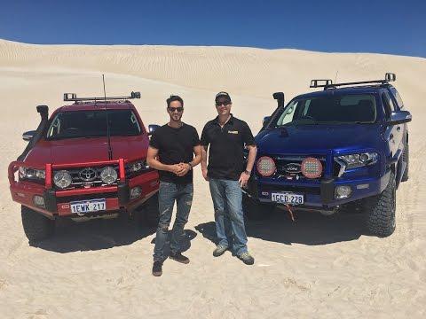 Hilux versus Ranger: ARB customised vehicles taking on the sand dunes!