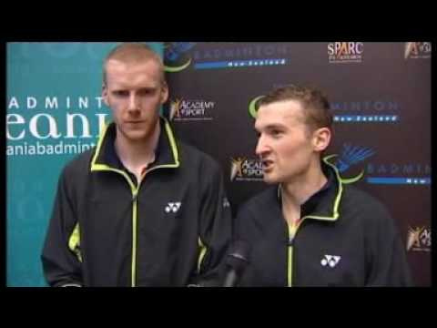 Interview with Oceania Championships Men's Doubles Champions Ross Smith and Glenn Warfe following their victory.