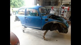 1974 Volkswagen Super Beetle Restoration Part 2,   lastchanceautorestore com