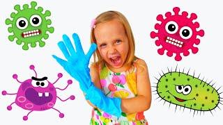 Ева и детские истории про вирусы | Правила поведения детей | Веселые истории на канале Егор и Ева