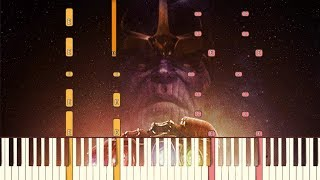 Avengers: Infinity War - Official Trailer Music [Piano Tutorial] (Synthesia)