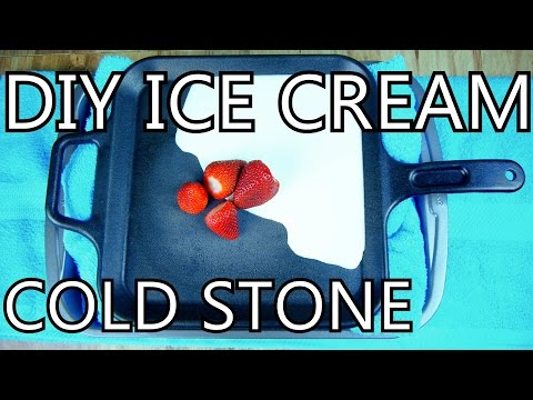 How To Make Ice Cream With A Frying Pan [DIY Cold Stone]