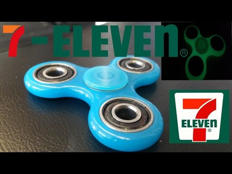 7-Eleven Fidget Spinner unboxing. review. and giveaway.  Glow in the dark fidget spinner.