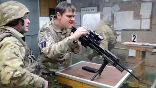 British Army Soldiers Showcasing Their Marksmanship With The L85 A2 Rifles