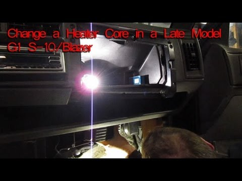 How to Change A Heater Core on a 1994 Chevy S-10, Blazer, GMC Jimmy, Oldsmobile Bravada