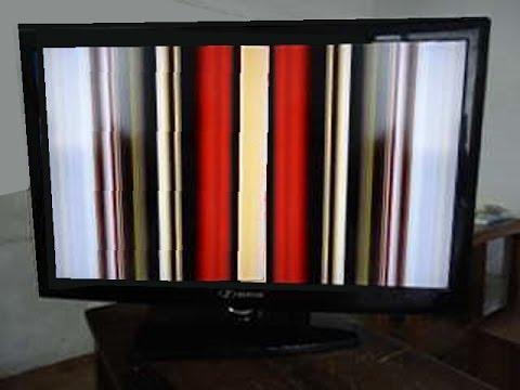 TV LCD com Efeito Cortina ou com imagem congelando: Como recuperar o Display!