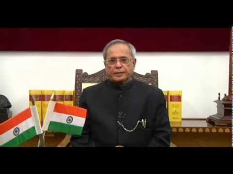 President of India H.E Pranab Mukherjee's Message on Amma's 60th Birthday