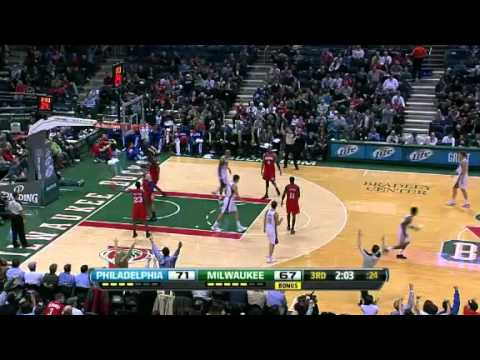 NBA Philadelphia Sixers Vs Milwaukee Bucks  Highlights Mar 5, 2012 Game Recap