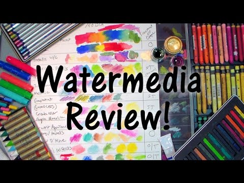 Watermedia Review: Paints, Pencils, Crayons & More!