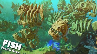 FILLING THE OCEAN WITH THOUSANDS OF GIANT BONE FISH! (What have I done...)   Feed and Grow Fish