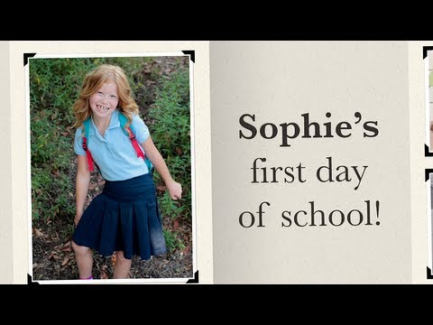 Story: The First Day of School | Photo App from Disney