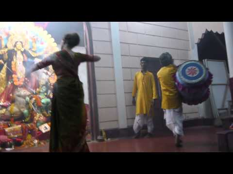 Dhak And Arati Performance During 2012 Durga Puja In Dhubri video