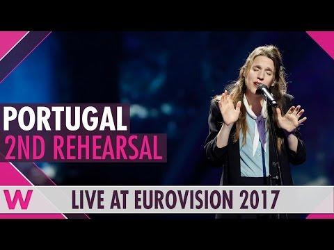 "Second rehearsal: Salvador Sobral's sister Luísa ""Amar Pelos Dois"" (Portugal) Eurovision 2017"
