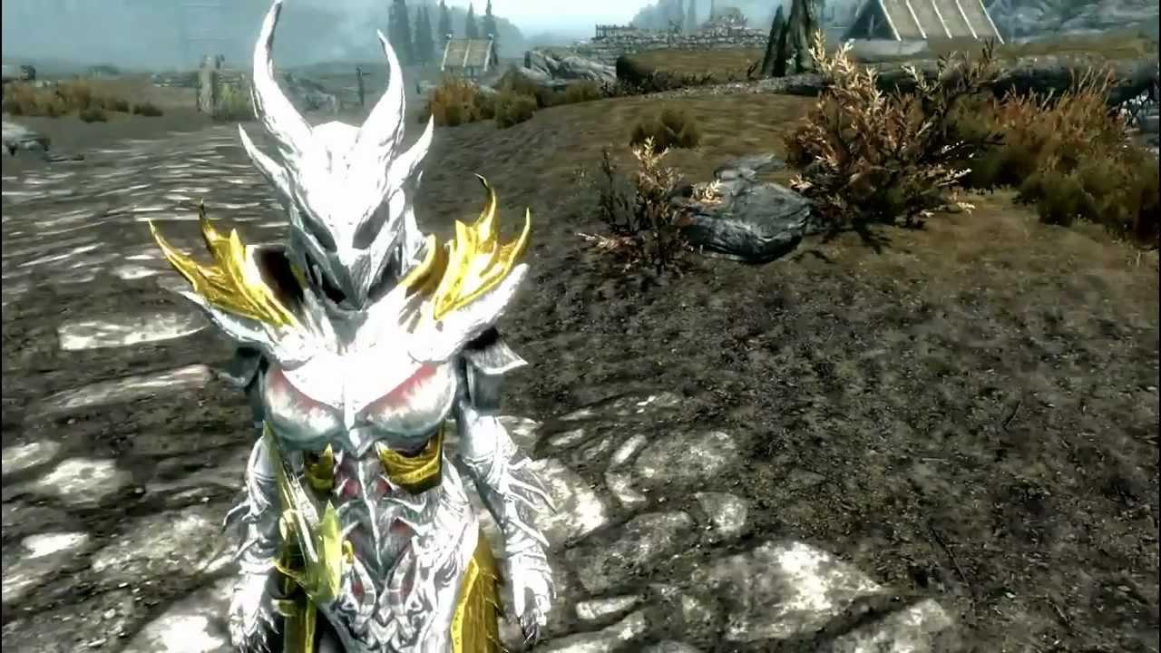 Daedric Armor Skyrim white and gold ...
