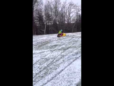 Christmas Morning: Snowmobile + 5-year-old = Grandma's Heart attack