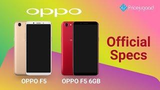 Oppo F5 official |Full Specs| Price