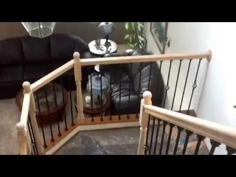 Iron Baluster Stair Railing Diy Youtube