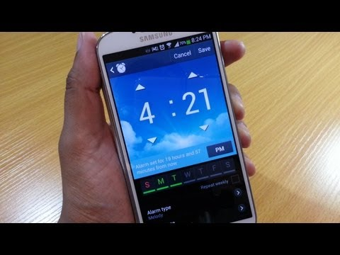 Alarm demo / walkthrough on Samsung Galaxy S4