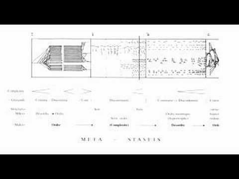 Iannis Xenakis - Metastasis Music Videos
