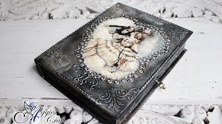 Mix Media - Metal Effect on Wooden Box - DIY Tutorial