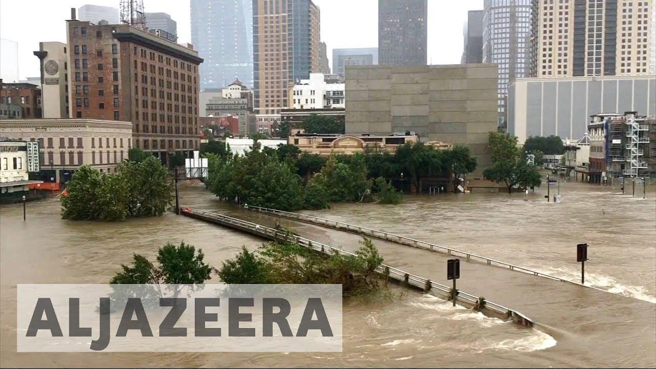 Houston flood: Reservoirs begin overspilling