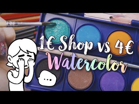 1 Euro Shop Watercolor vs.