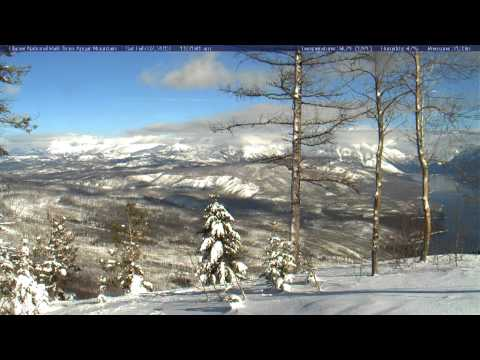 Timelapse from webcam at Glacier National Park, view from Apgar Mountain, 2013-02-03