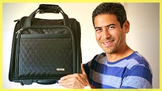 Travelon Wheeled Underseat Carry-on Bag | Excellent Luggage Option for Female Travelers
