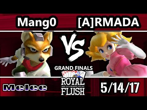 Royal Flush SSBM - [A] Armada (Peach) Vs. C9 Mango (Fox, Marth) Smash Melee GF