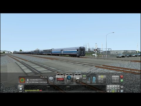 TS2015 HD: Miami - West Palm Beach Route Released (Silver Service Departing Miami Central Station)