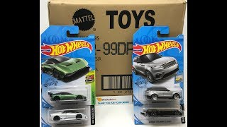 WHEELCOLLECTORS HOT OFF THE TRUCK! 2019 HOT WHEELS BASIC P CASE UNBOXING!! Aston Martin Range Rover