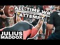 Julius Maddox Attempts The All Time Bench Press Record | 700+lbs!!!