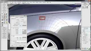 Alias Automotive 2014 Surface modeling & Class-A surfacing - Multi-Surface Draft and Align