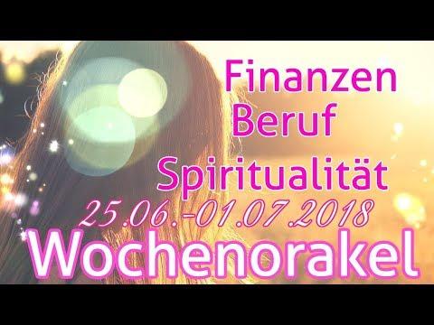 Wochenorakel 25.06. - 01.07.2018 | Finanzen | Beruf | Spiritualität | Wochenreading