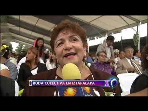 Boda colectiva rompe récord en Iztapalapa
