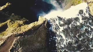ICELAND - DRONE VIDEO - SKÓGARFOSS - BLACKBEACH