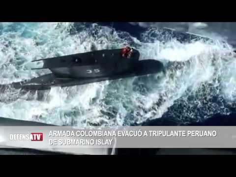 Armada Colombiana, evacuó a tripulante peruano de submarino Islay
