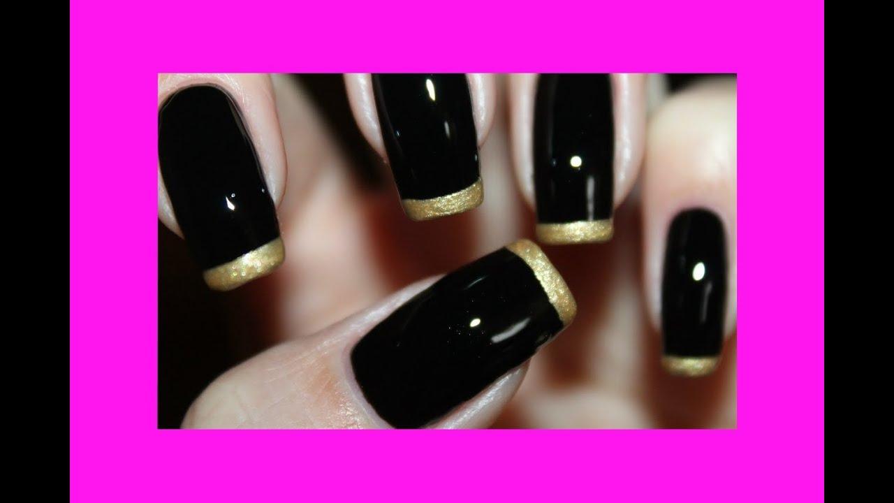 Маникюр под черное вечернее платье